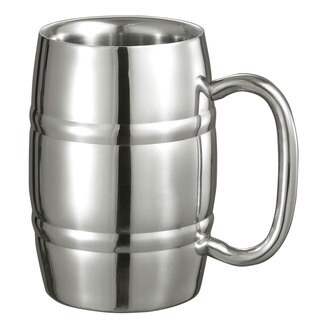 Visol Big 13-ounce Cooper Double Walled Stainless Steel Mug