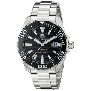 Link to Tag Heuer Men's WAY211A.BA0928 'Aquaracer' Automatic Stainless Steel Watch Similar Items in Men's Watches