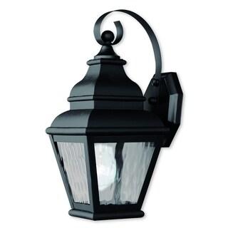 Livex Lighting Exeter Black 1-light Outdoor Wall Lantern