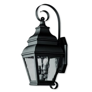 Livex Lighting Exeter Black Brass 2-light Outdoor Wall Lantern