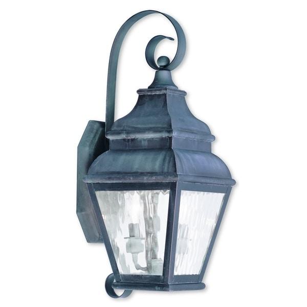 Shop Livex Lighting Exeter Charcoal Brass 2-light Outdoor