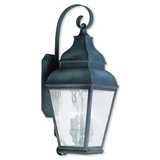 Livex Lighting Exeter Charcoal 3-light Outdoor Wall Lantern