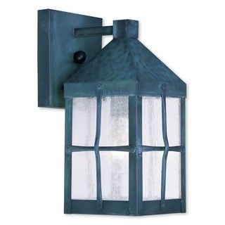 Livex Lighting Brighton Hammered Charcoal Brass 1-light Outdoor Wall Lantern