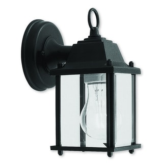 Livex Lighting Outdoor Basics Black Aluminum 1-light Wall Lantern