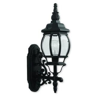 Livex Lighting Frontenac Black Aluminum 1-light Outdoor Wall Lantern
