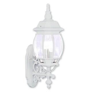 Livex Lighting Frontenac White 3-light Outdoor Wall Lantern