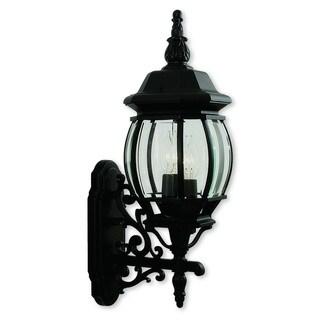 Livex Lighting Frontenac Black Aluminum 3-light Outdoor Wall Lantern