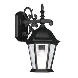 Livex Lighting Hamilton Black Aluminum 1-light Outdoor Wall Lantern