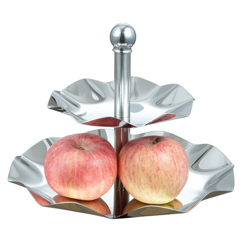 Visol LeaftrayTwo-tiered Tray for Desserts / Cupcakes / Fruits / Cheese
