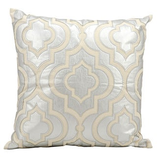 Mina Victory Luminescence Laser Cut Lantern Silver Throw Pillow by Nourison (20 x 20-inch)