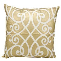 Mina Victory Luminescence Laser Cut Infinity Gold Throw Pillow by Nourison (20-Inch X 20-Inch)