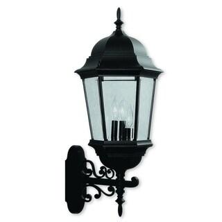 Livex Lighting Hamilton Black Aluminum 3-light Outdoor Wall Lantern