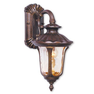 Livex Lighting Oxford One-light Moroccan Gold Outdoor Wall Lantern