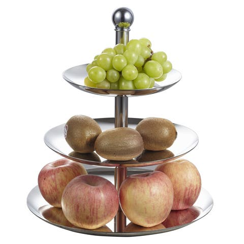 Visol 3 Tiers Stainless Steel Cupcake and Fruit Stand