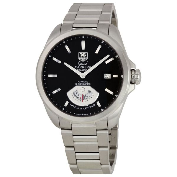 1bbcc120d459 Shop Tag Heuer Men s WAV511A.BA0900  Grand Carrera  GMT ChronoMeter  Automatic Stainless Steel Watch - Free Shipping Today - Overstock - 12037915