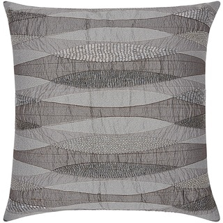 Mina Victory Luminescence Geometric Infinity Pewter Throw Pillow by Nourison (18 x 18-inch)
