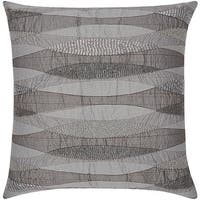 Mina Victory Luminescence Geometric Infinity Pewter Throw Pillow by Nourison (18-Inch X 18-Inch)