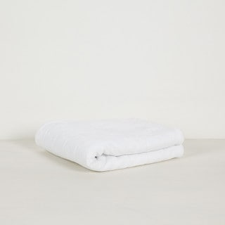 White Cotton 20-inch x 34-inch Bath Mat