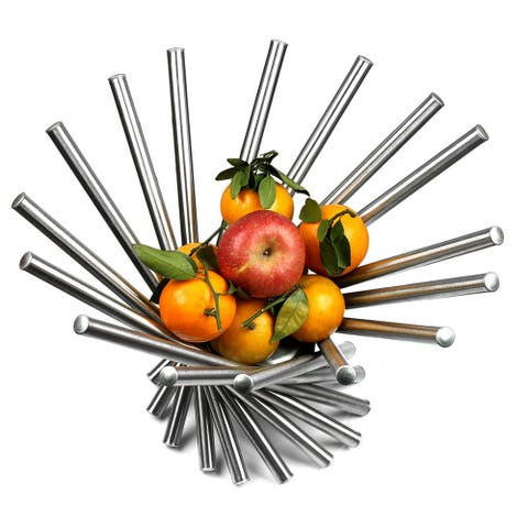 Visol Heliot Stainless Steel Modern Fruit Bowl