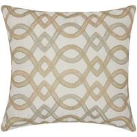Mina Victory Luminescence Geometric Lattice Gold Throw Pillow by Nourison (18 x 18-inch)