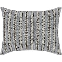 Mina Victory Luminescence Arrowhead Stripes Pewter Throw Pillow by Nourison (12 x 16-inch)