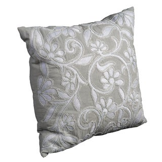 Mina Victory Luminescence Flowers Light Green Throw Pillow by Nourison (20-Inch X 20-Inch)