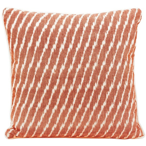 Mina Victory Lifestyle Stripes Orange Throw Pillow by Nourison (18-Inch X 18-Inch)