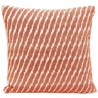 Mina Victory Lifestyle Stripes Orange Throw Pillow by Nourison (18 x 18-inch)