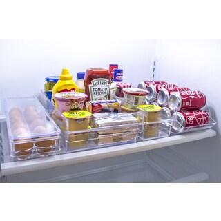 Sorbus Clear Plastic Refrigerator Drawer Organizer