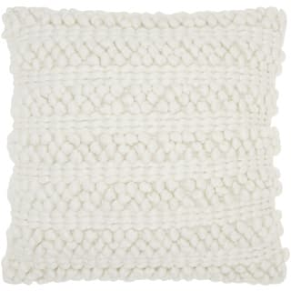 Mina Victory Lifestyle Woven Stripes White Throw Pillow by Nourison (20 x 20-inch)|https://ak1.ostkcdn.com/images/products/12038006/P18909707.jpg?impolicy=medium