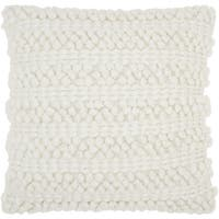 Carson Carrington Tarnby Woven Stripes White Throw Pillow