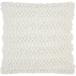 Perfect Carson Carrington Tarnby Woven Stripes White Throw Pillow