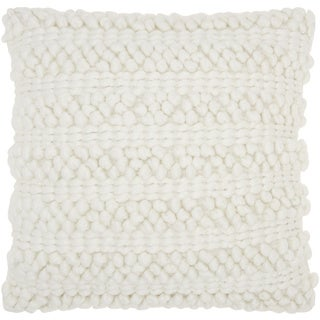 mina victory lifestyle woven stripes white throw pillow by nourison 20 x 20inch