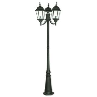 Livex Lighting Hamilton 3-light Textured Black Outdoor Post Light