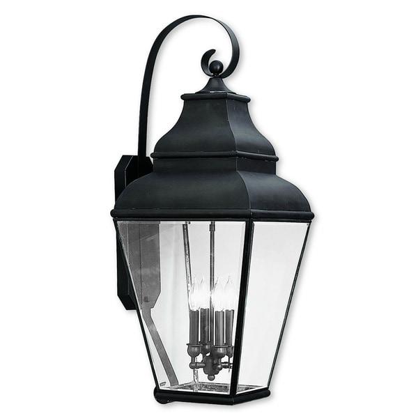 Shop Livex Lighting Exeter Brown Brass 4-light Outdoor