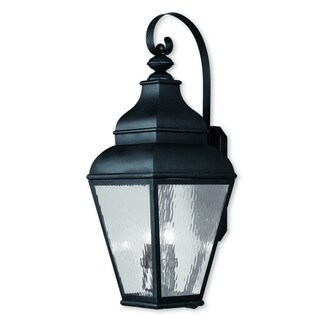 Livex Lighting Exeter Black Four-light Outdoor Wall Lantern