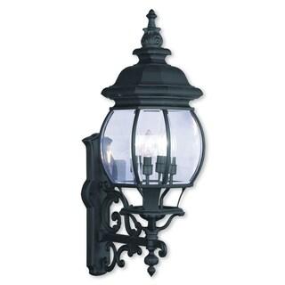 Livex Lighting Frontenac Black Aluminum 4-light Outdoor Wall Lantern