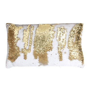 Thro by Marlo Lorenz Melody Mermaid Multicolor Polyester/Feather 12-inch x 20-inch Reversible Sequin Oblong Throw Pillow