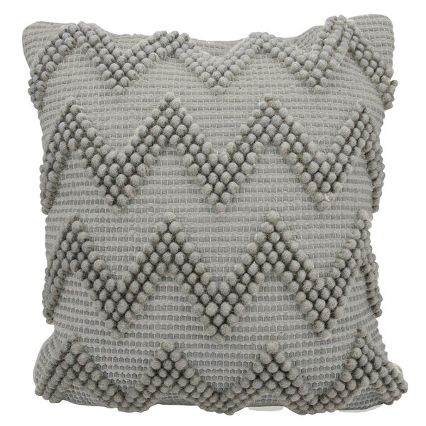 Mina Victory Lifestyle Large Chevron Light Grey Throw Pillow By Nourison 20 X
