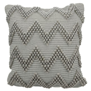 Mina Victory Lifestyle Large Chevron Light Grey Throw Pillow by Nourison (20 x 20-inch)