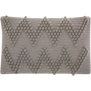 Mina Victory Lifestyle Large Chevron Light Grey Throw Pillow by Nourison (12 x 18-inch)