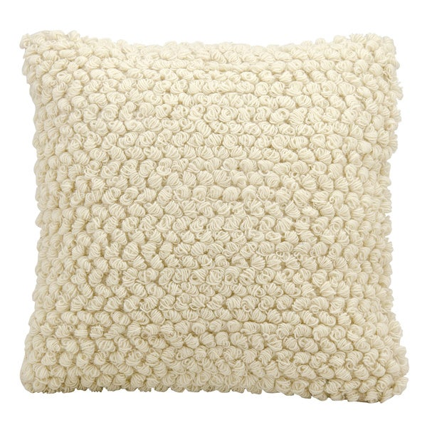 Mina Victory Lifestyle Thin Group Loops Ivory Throw Pillow