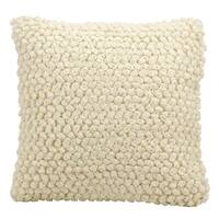 Maison Rouge Celan Loops Ivory Throw Pillow (20-inch x 20-inch)