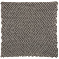 Mina Victory Lifestyle Heavy Loop Diamond Light Grey Throw Pillow by Nourison (20 x 20-inch)