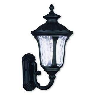 Livex Lighting Oxford Black Aluminum 1-light Outdoor Wall Lantern