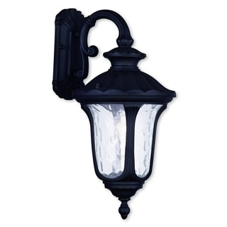 Livex Lighting Oxford Black Aluminum 1-light Outdoor Wall Lantern