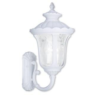 Livex Lighting Oxford White Aluminum 3-light Outdoor Wall Lantern