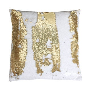 Captivating Melody Mermaid Reversible Sequin 20 Inch Feather Filled Pillow