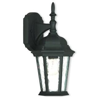 Livex Lighting Hamilton 1-light Textured Black Outdoor Wall Lantern