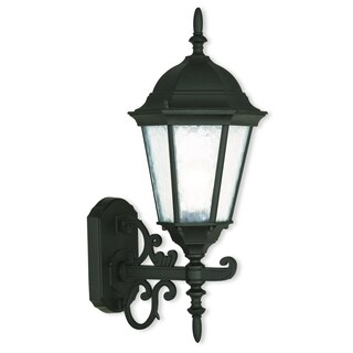 Livex Lighting Hamilton 1-light Textured Black Outdoor Wall Lantern